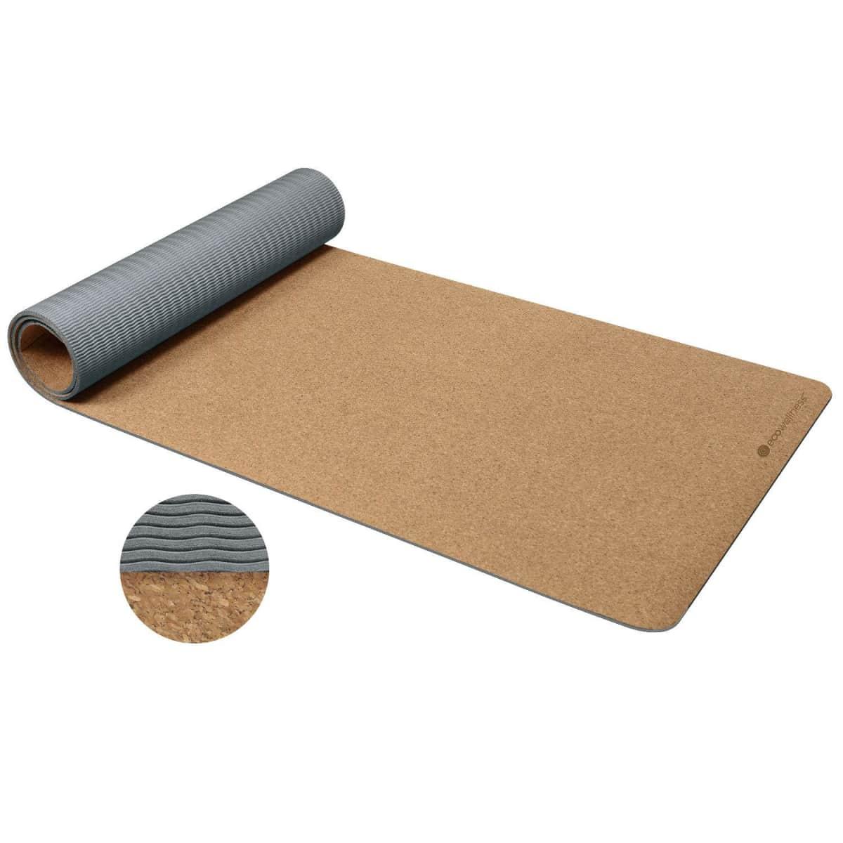 Ew Cork Tpe Yoga Mat 4mm