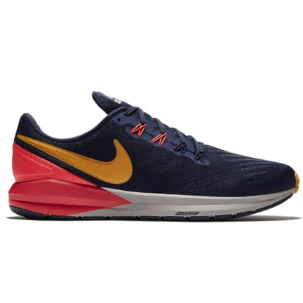 mens nike zoom structure 18 blue yellow