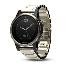 Garmin Fenix 5S Sapphire Goldtone Metal Multisport GPS Watch