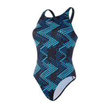 Speedo Ladies Mirror Glare Allover Powerback 1 Piece