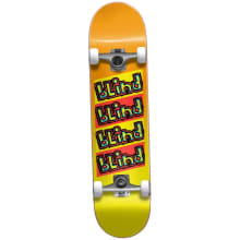 Blind Incline Yellow Fade Skateboard 7.62