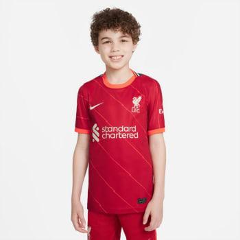 Liverpool Junior Home 21/22 Soccer Jersey