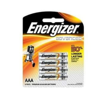 Energizer AAA Advanced E2 Battery 4 Pack - Sold Out Online
