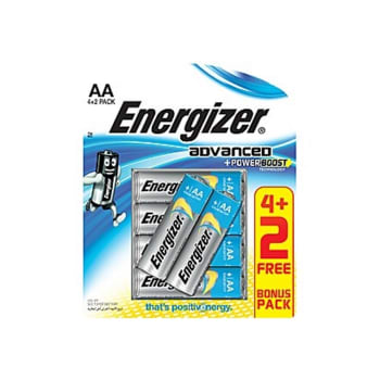 Energizer AA MAXPLUS- 6 Pack 4+ 2 Free