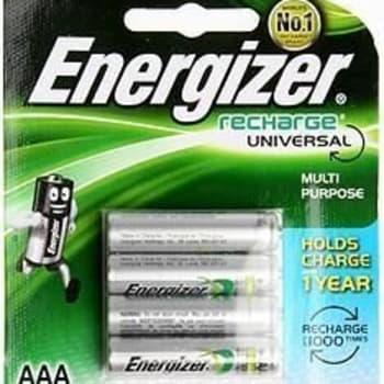 Energizer Recharge 4 x AAA 700mAh