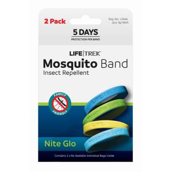 Lifetrek Mosquito Band Glow 2Pk
