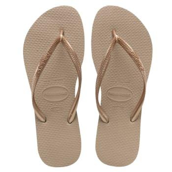 Havaianas Women's Slim Rose Gold Sandals