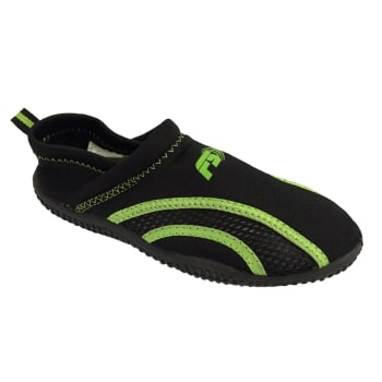 Aqua Slip On Youth 3-5 Black/Flash Green Aqua Shoe - Find in Store