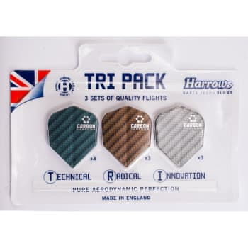 Harrows Tri-pack Carbon Flights - Sold Out Online