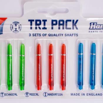 Harrows Tri-pack Supergrip Colour Shafts