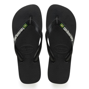 Havaianas Kids Brazil Logo Black Sandals - Sold Out Online