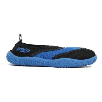 Aqua Slip On Youth 3-5 Black/Royal Blue Aqua Shoe - Sold Out Online