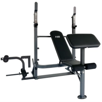 HS Fitness Folding Combo Barbell Bench