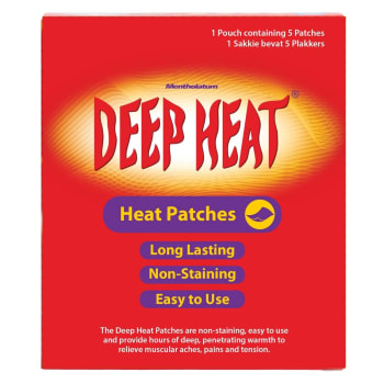Deep Heat Pain 5PC Sport Patch