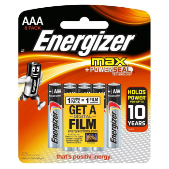 Energizer Max Alkaline AAA 8 Pack Batteries - Sold Out Online