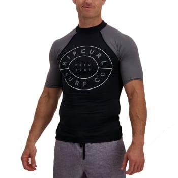 Rip Curl Men's New Compass Short Sleeve Rashvest