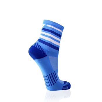 Versus Blue Stripes Performance Running Sock Size 8-12 - Find in Store