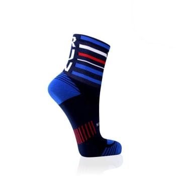 Versus Navy Stripe Performance Running Sock Size 4-7 - Find in Store