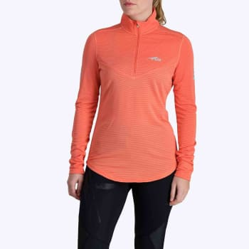 First Ascent Women's X-trail 1/4 Zip Long Sleeve Run Top