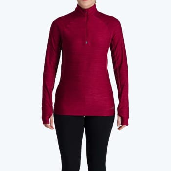 First Ascent Women's Kinetic 1/4 Zip Long Sleeve Run Top - Sold Out Online