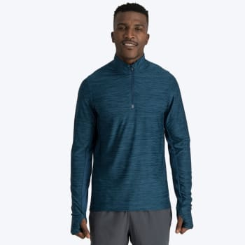 First Ascent Men's Kinetic 1/4 Zip Run Top