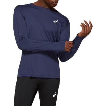 asics Men's Silver LS Run Top