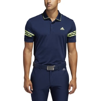 adidas Mens 365 3Stripe Golf Polo