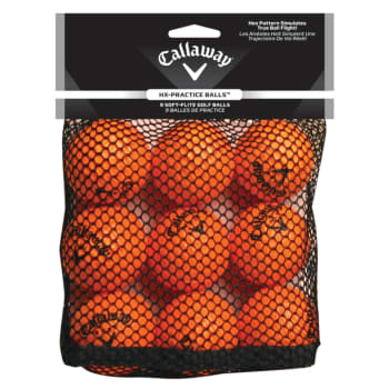 Callaway Soft Flight Hex Pattern 9 pack Practise Golf Balls - Find in Store