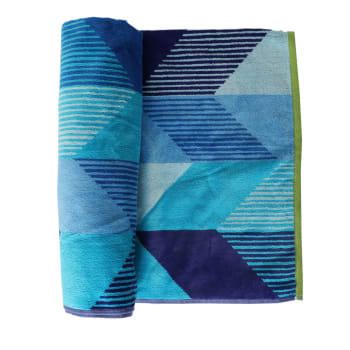 Colibri Windswept Blues Beach Towel