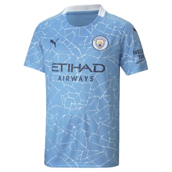 Man City Junior Home 20/21 Soccer Jersey