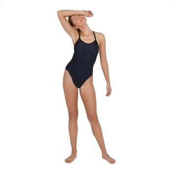 Speedo Women's Boomstar Allover Turnback Swim 1 Piece