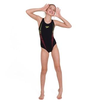 Speedo Girls Plastisol Placement Muscleback Swim 1 Piece