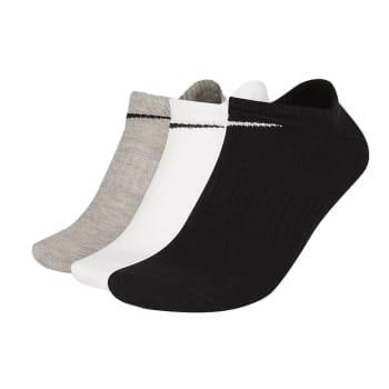 Nike Unisex Everyday Lightweight Training No-Show Socks 3 Pack Size (L)