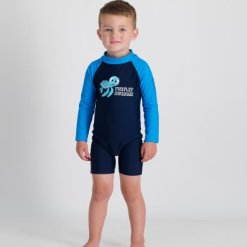 Second Skins BoysTurtley Awesome Long Sleeve Sunsuit