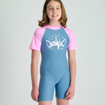 Second Skins Girls Glitter Unicorn Sunsuit - Find in Store