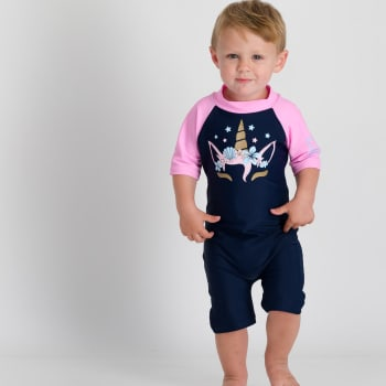 Second Skins Girls Glitter Unicorn Sunsuit (2-4)