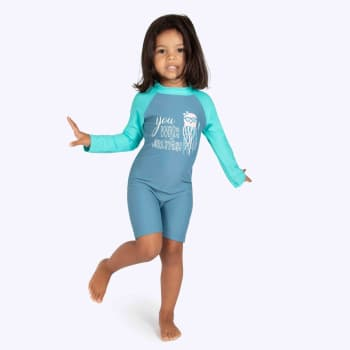 Second Skins Girls You Wish Jellyfish Long Sleeve Sunsuit (2-4)