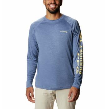 Columbia Men's Terminal Tackle Heather Long Sleeve Shirt (S20 - Carbon Heather)