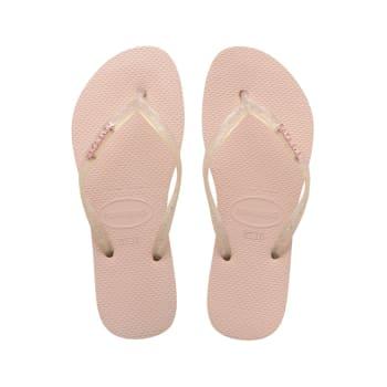 Havaianas Women's Slim Logo Metallic Sandals