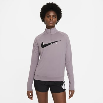Nike Women's Swoosh Half Zip Midlayer Long Sleeve Top