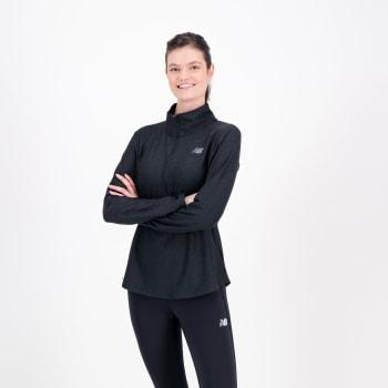 New Balance Women's Half Zip Long Sleeve Top