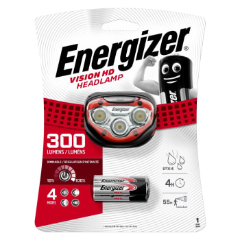 Energizer Vision Headlight 300 Lumens - Out of Stock - Notify Me