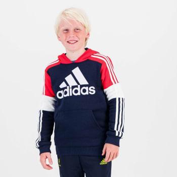 Adidas Boys Fleece Colourblock Hoodie