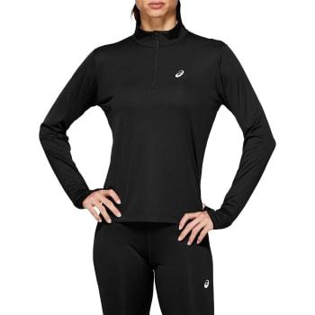 Asics Women's Silver 1/2 Zip Run Long Sleeve