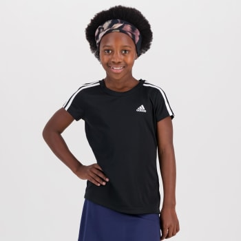 Adidas Girls 3 Stripe performance T- Shirt