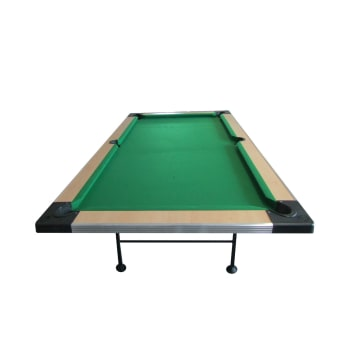 Elite Fold-Away Pool Table - Wood Top (Maple)