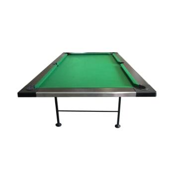 Elite Fold-Away Pool Table - Wood Top (Wenge)