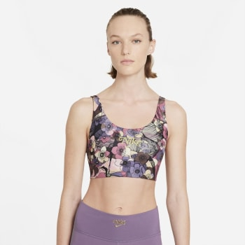 Nike Swoosh Strappy Floral Bra