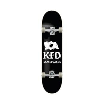 "KFD Thrashed Stacked Black 8"" Skateboard"