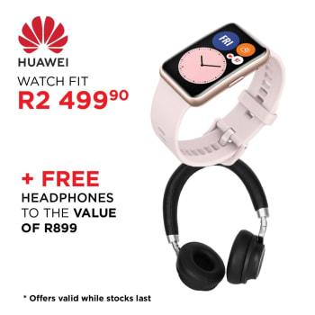 Huawei Watch Fit Multisport GPS Watch + Huawei Headphone - Find in Store